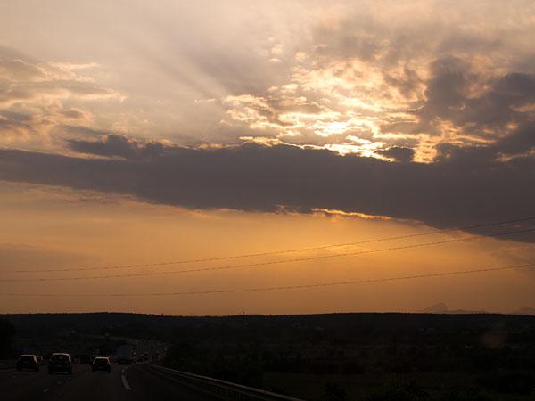 Unterwegs ein Sonnenuntergang