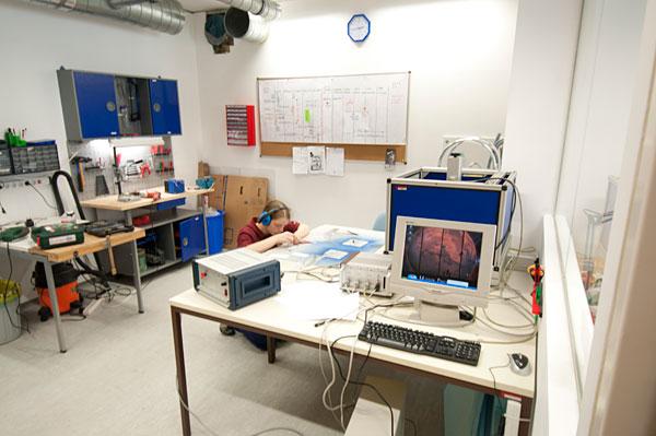 Werkstätte im Spacesuit Lab
