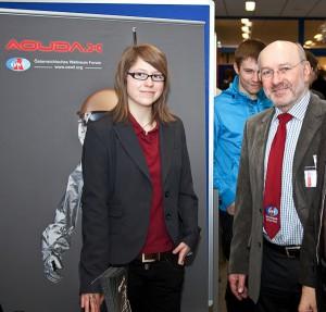 Lisa Sonnleithner & Gerhard Grömer beim ÖWF Stand