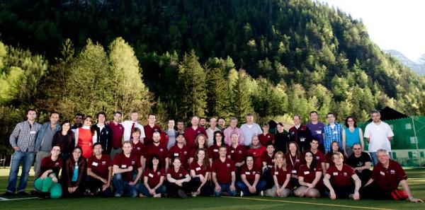 Das gesamte Team inkl. Experimentatoren der Dachstein Mars Simulation (c) OEWF (Katja Zanella-Kux)