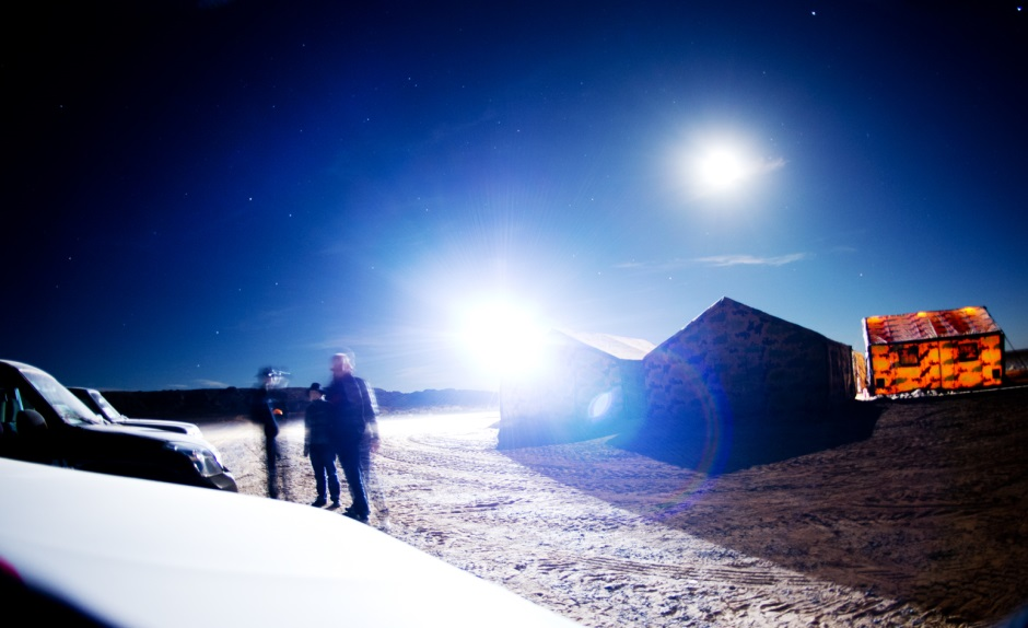 Desert camp at night. (c) OeWF (Katja Zanella-Kux)