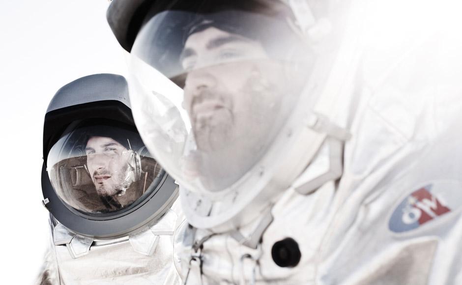 Analog-Astronauten Luca Foresta (li) und Daniel Schildhammer (re). (c) OeWF (Katja Zanella-Kux)