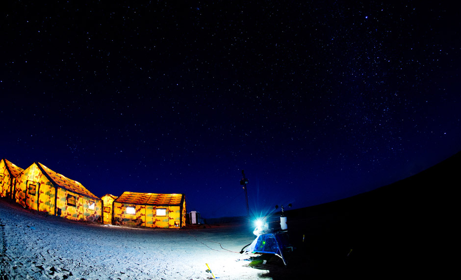 "Nachthimmel über Camp ""Weyprecht"" (c) OeWF (Katja Zanella-Kux)"