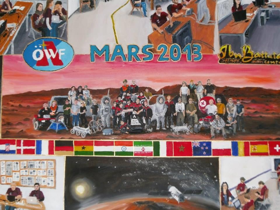 MARS2013 Simulation als Ölgemälde