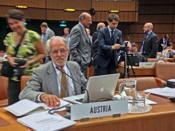 Dr. Rudolf Albrecht, österreichische Delegation