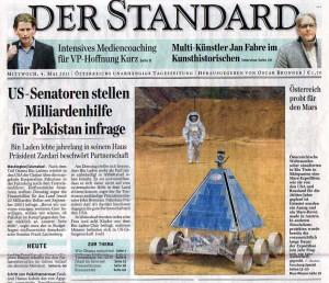 Titelseite Der Standard, 04 Mai 2011