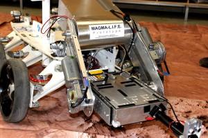 L.I.F.E. Fluoreszenzlaser (Univ. Innsbruck/OeWF) an Bord des MAGMA-Rovers bei einem Labortest.