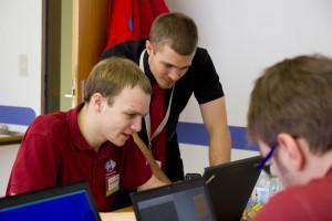 FD-A Reinhard Tlustos und Thomas Bartenstein während einer Mission.