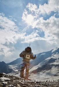 Analog-Astronaut Kartik Kumar am höchsten Punkt der AMADEE-15 Mission (c) ÖWF (Paul Santek)