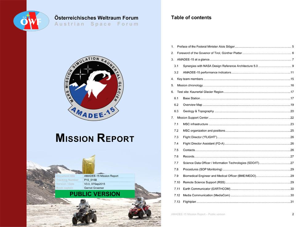 AMADEE-15 Missions-Report erschienen!