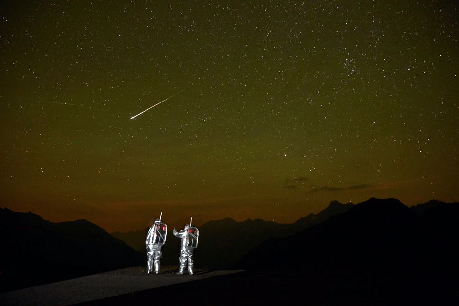 AMADEE-15 Nacht-Aussenbordeinsatz (c) ÖWF (Paul Santek)