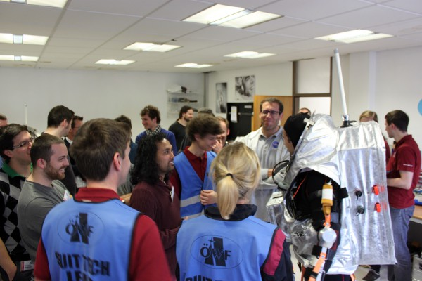 AMBT class meets the Aouda suit for the 1st time.