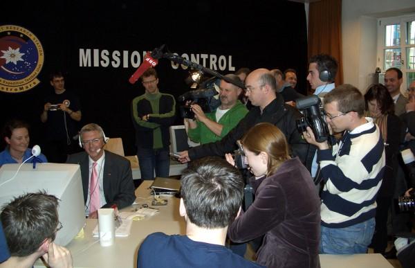 """AustroMars Pressekonferenz am Tag der """"Landung"""""""