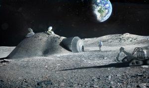 ESA visual of a moon village (c) ESA/Foster + Partners