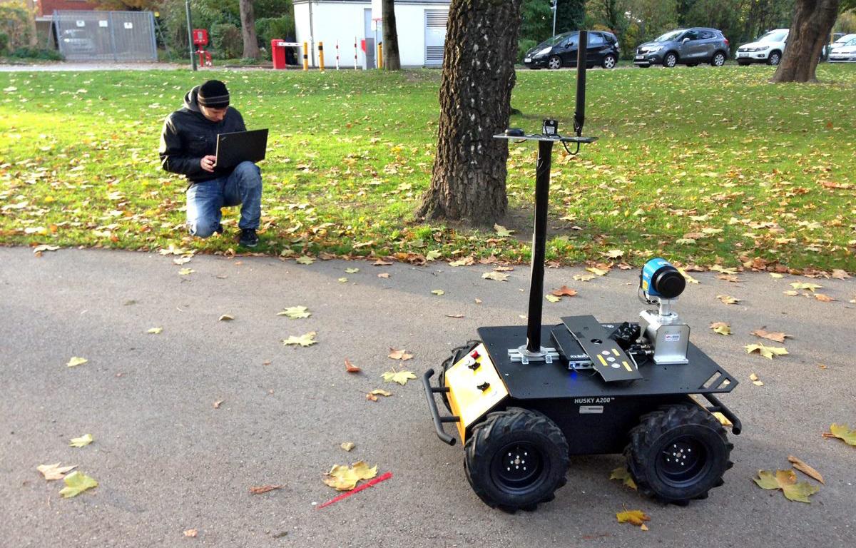 Husky Rover beim Testen