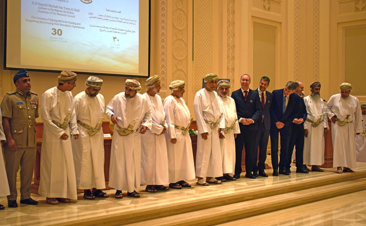 Abkommensunterzeichnung im Oman