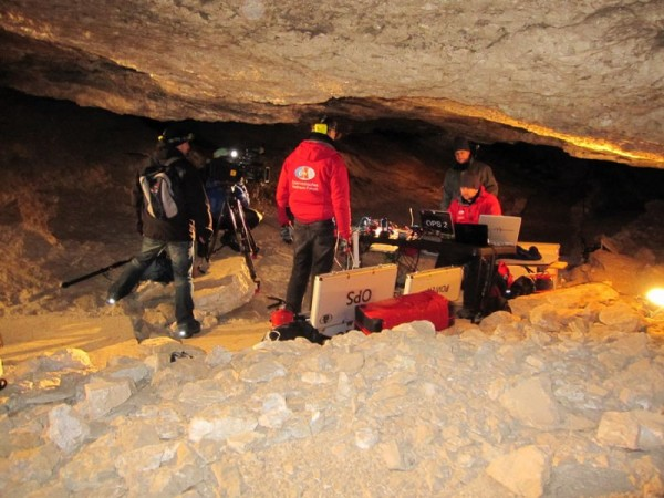 OPS in the Koppenbrüller cave at temperatures around zero degrees C.