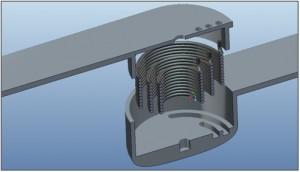 3D Darstellung Kräfteverteilung innerhalb eines Gelenks
