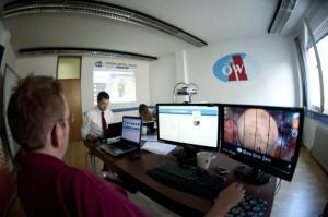 Das MediaCom- Team im MCC. (c) ÖWF (Katja Zanella- Kux)