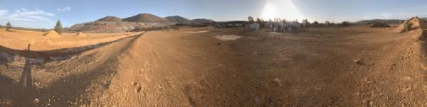 Ein erster Panoramarundblick auf dem Mars