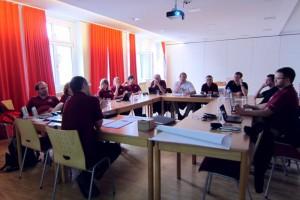 Suit workshop im Pfarrsaal der Gemeinde Bad Ischl