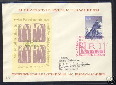 Expressbrief per Rakete