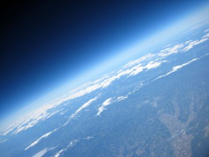 View from the stratosphere (34 km) on to Earth