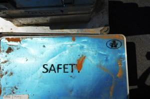 Sand auf der Safety Box