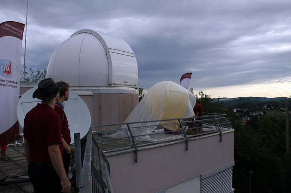 "Filling of Passepartout at the Observatory ""Lustbuehel"""