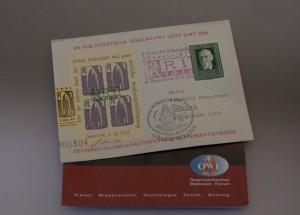 50 Jahre alte Briefe - höchst begehrt, waren beim Start an Bord