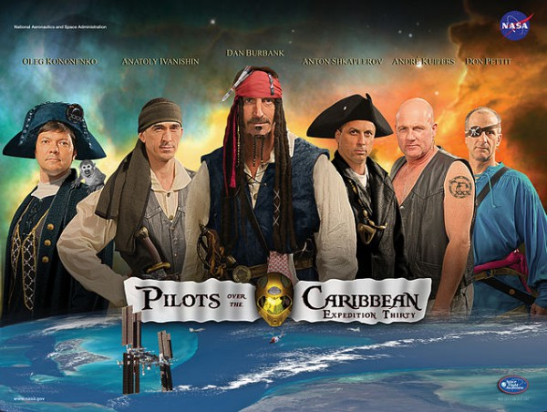 Pilots over the Caribbean - mission poster of expedition 30 (c) NASA