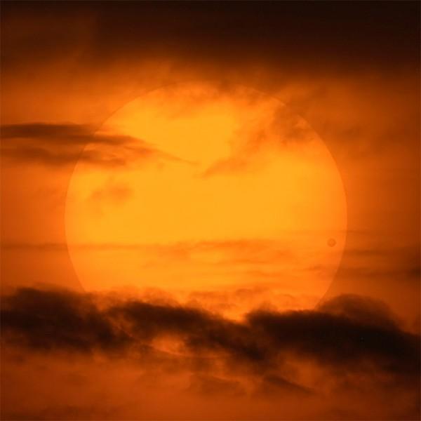 Venustransit vom Jahr 2004 in North Carolina (USA) fotografiert. (c) Bildcredit und Bildrechte: APOD / David Cortner