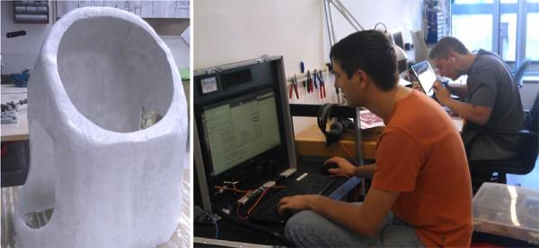 Im Labor, Collage HuT & Arbeit