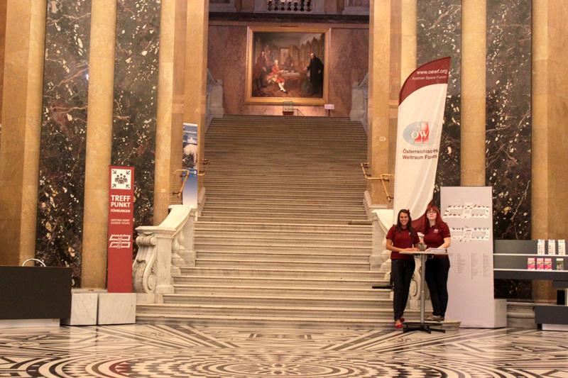 Im Naturhistorischen Museum in Wien wurde die Mars 2013 Pressekonferenz veranstaltet.