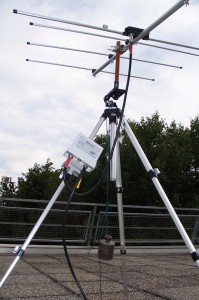 Mounted Yagi antenna