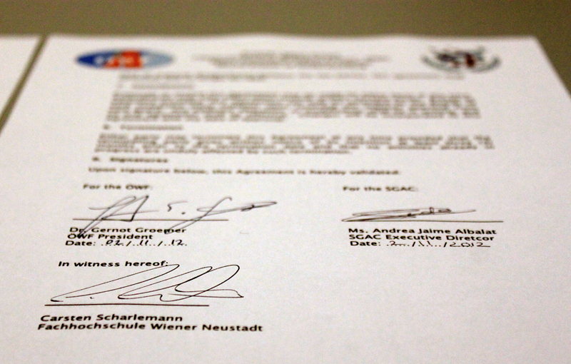 OeWF and SGAC sign Memorandum of Understanding