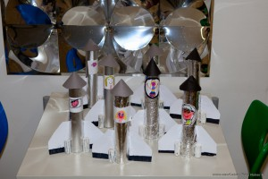 Die verschiedenen Raketen der Schüler