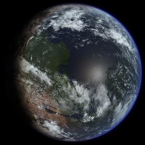 Artist's impression of a terraformed Mars. (Image credit: Daein Ballard. CC BY-SA 3.0)
