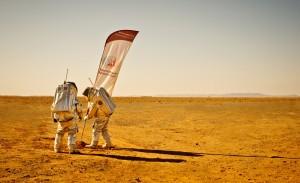 Analog-Astronauten L. Foresta & D. Schildhammer bei ihrem ersten Einsatz in Marokko. (c) ÖWF (Katja Zanella-Kux)