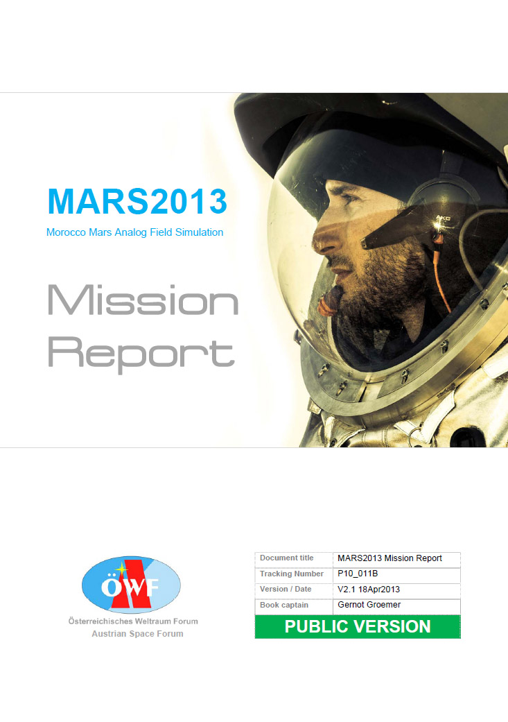 MARS2013 Mission Report released