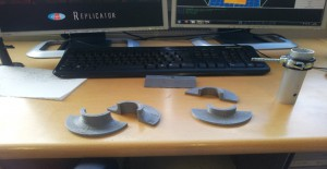 3D printed Objects of my First Week in the Austrian Space Forum. (c) OeWF (Sara Barrada)