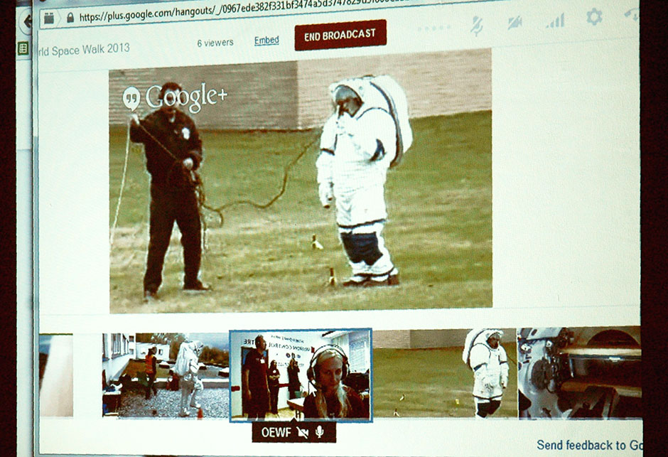 Wir verfolgen den World Spacewalk via Google Hangout