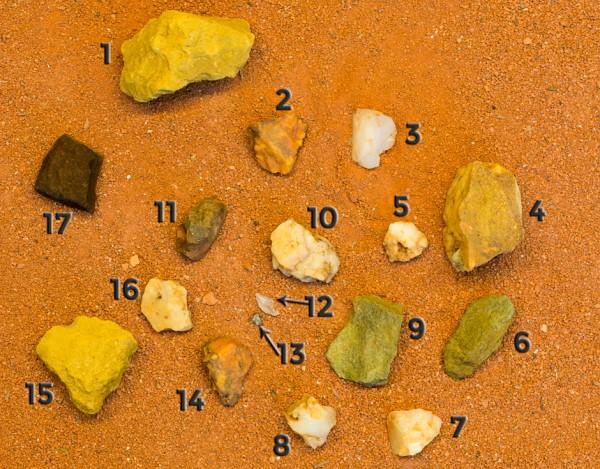 Spot the meteorite (c) OeWF (Paul Santek)
