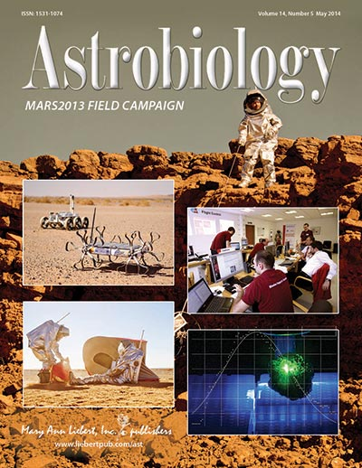 Cover der Special Collection des Astrobiology Journals zu MARS2013