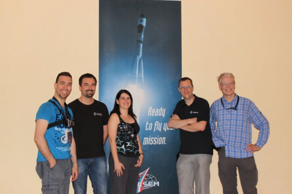 ISU Alumni at Hotel Sputnik (from left: Göktuğ Karacalıoğlu, Romain Charles, Olivia Haider, Remco Timmermans, Christian Lüthen)