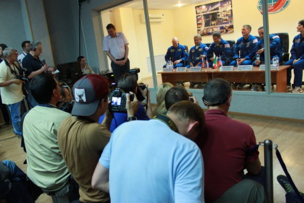 press conference at cosmonaut hotel