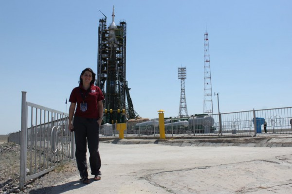 Me standing on Launchpad 1, in the back Soyuz TMA 13M.