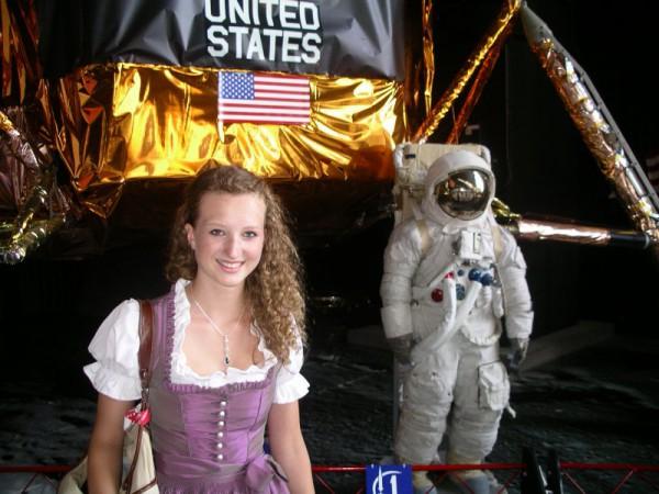 Biance Neureiter beim Spacecamp 2010