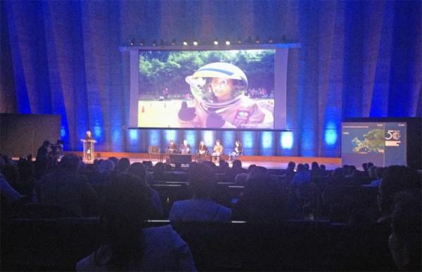 ESA Spacecamp Teilnehmer bericht während der ESA 50 Jahr Feier über ihre Spacecamp Erlebnisse
