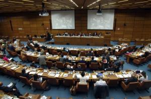 COPUOS 2014 in Aktion. Nicht zu jedem Thema sind immer alle Delegierten im Saal.